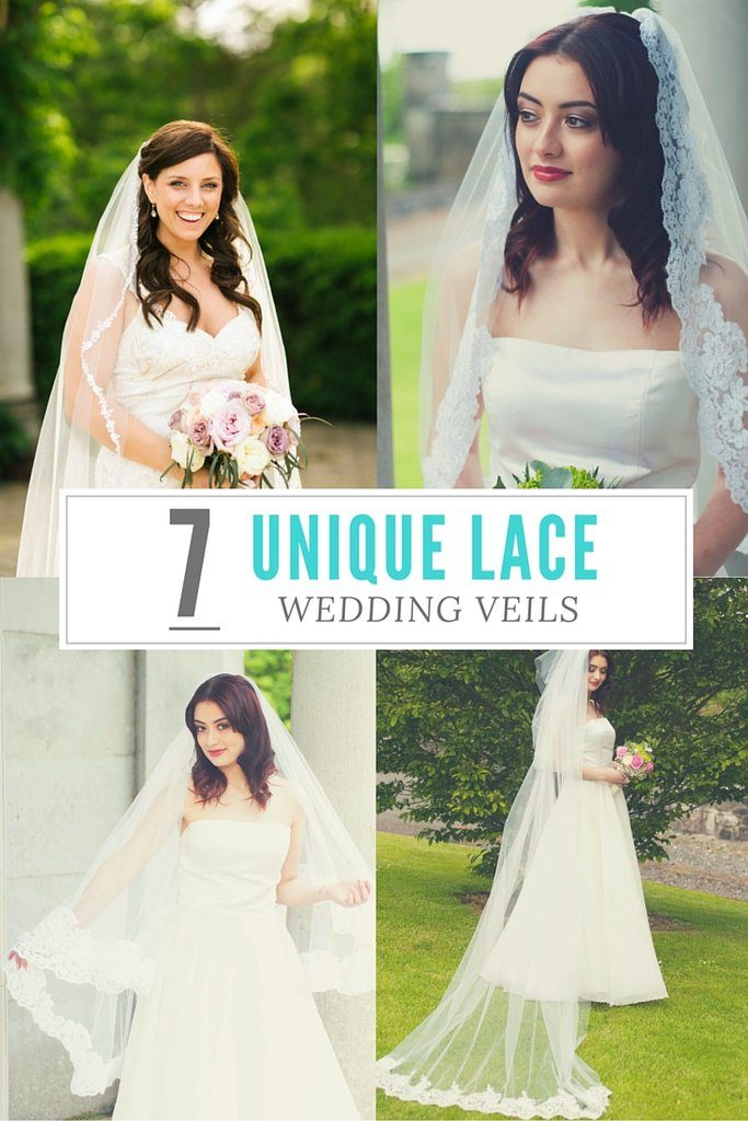 unique lace wedding veils hero image