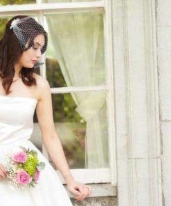 vintage chic visor veil
