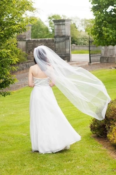 One Tier Cut Edge Bridal Veil U2013 (Multiple Lengths)