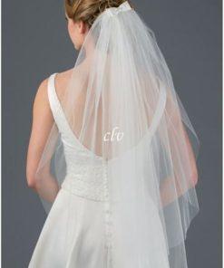 fingertip length veil with bow